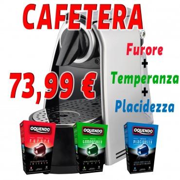 Cafetera para capsulas y cafe molido
